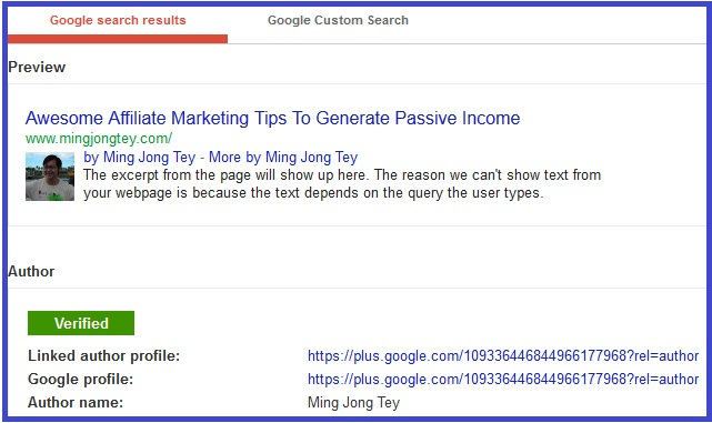 Google Rich Snippets Tool